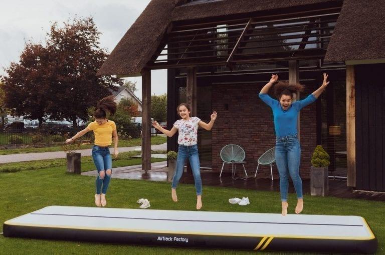 3 girls having fun on AirTrack Spark