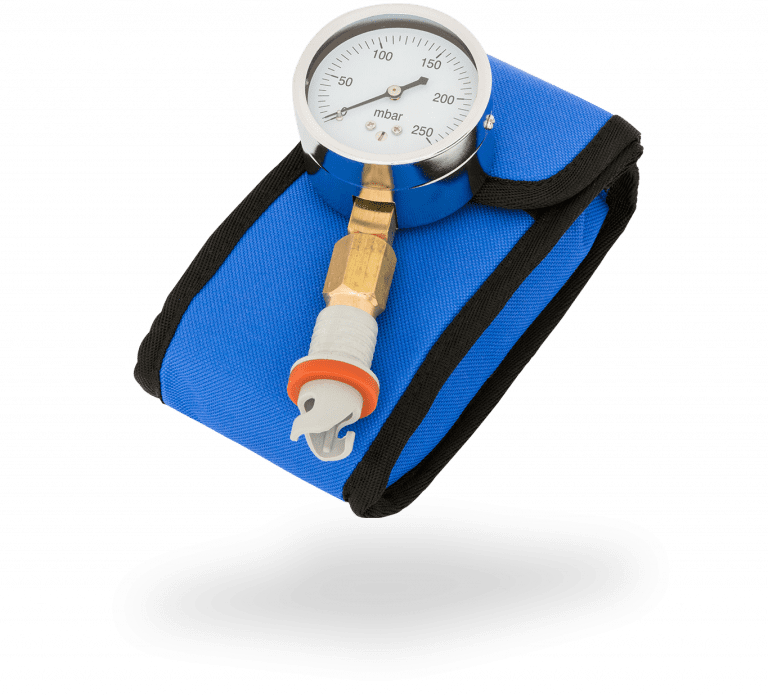 Pressure gauge with bag