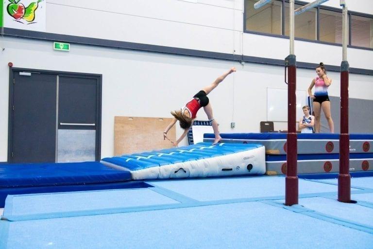 AirIncline Gymnastics roundoff