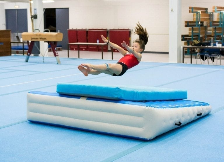 Roundoff backflip practice with the AirIncline