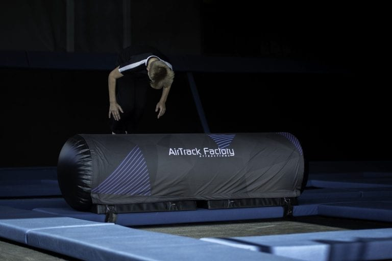 Inflatable trampoline park obstacle