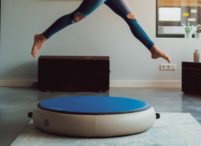 Girl jumping on Airspot