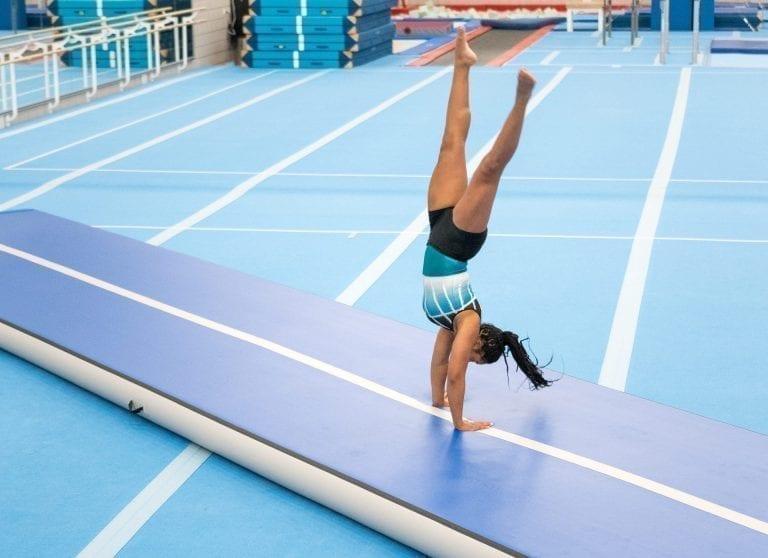 gymnast tumbling on airtrack sale