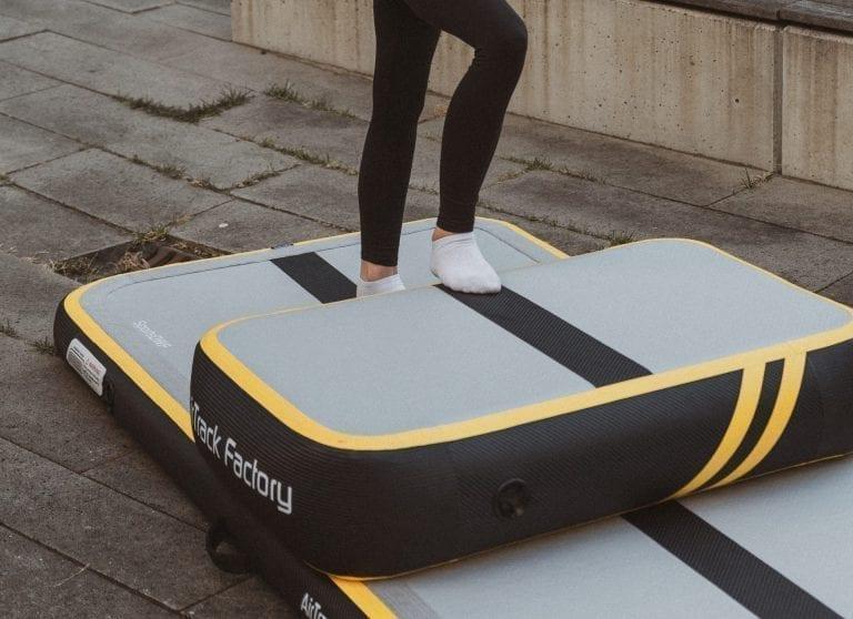Girl standing on spark AirBlock outside