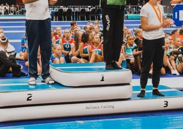 Inflatable Podium winners in gymnastics